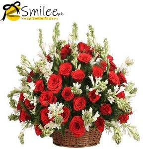 flowers basket-smilee
