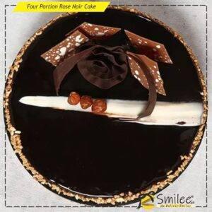 four portion rose noir cake