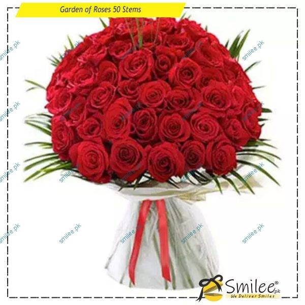 garden of roses 50 stems