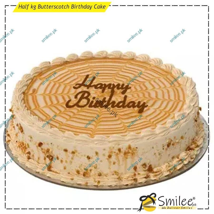Super Butterscotch Birthday Cake Send Gifts To Lahore Smilee No 1 Funny Birthday Cards Online Hendilapandamsfinfo