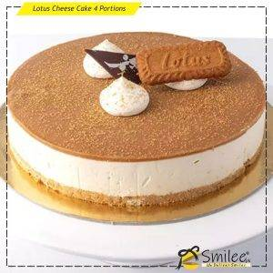 lotus cheese cake 4 portions