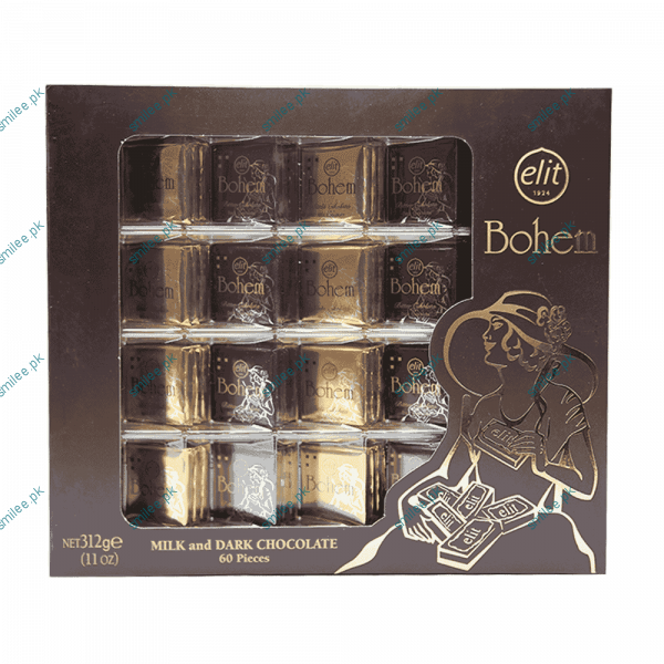 Elit Milk And Dark Chocolate Bohem 60Pcs 312 gm