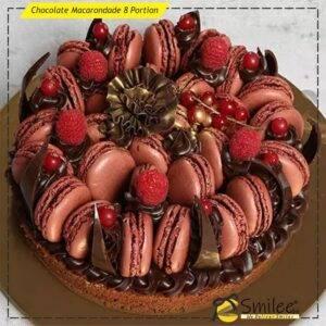 chocolate macarondade 8 portion