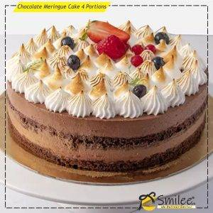 chocolate meringue cake 4 portions
