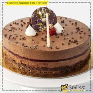 chocolate raspberry cake 4 portions