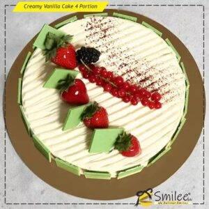 creamy vanilla cake 4 portion
