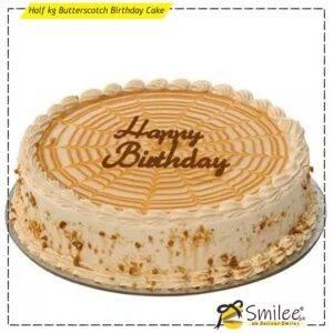 half kg butterscotch birthday cake