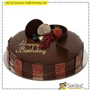 half kg chocolate truffle birthday cake