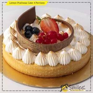 lemon pralinosa cake 4 portions