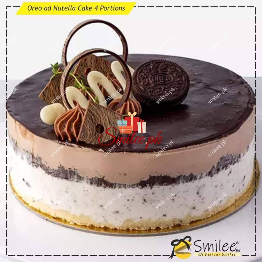 oreo ad nutella cake 4 portions