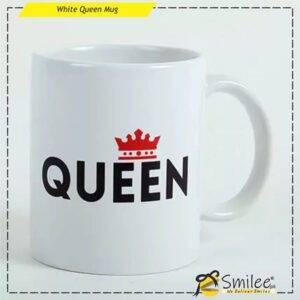 white queen mug