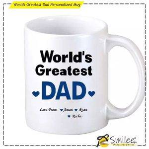 worlds greatest dad personalized mug